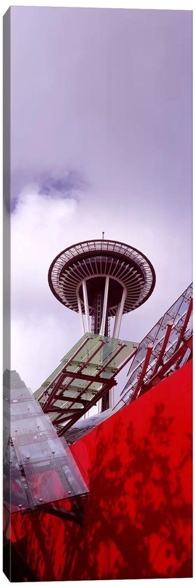 Low angle view of a tower, Space Needle, Seattle, King County, Washington State, USA #2 Canvas Art Print
