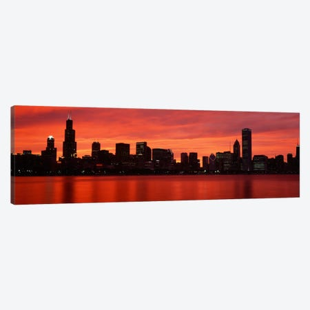 Downtown Skyline On A Majestic Evening, Chicago, Cook County, Illinois, USA Canvas Print #PIM852} by Panoramic Images Canvas Art Print