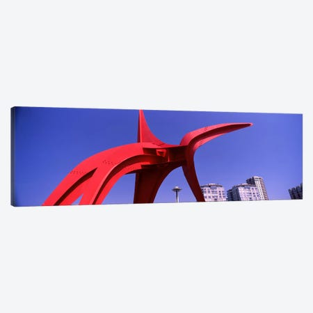 Low angle view of a sculpture, Olympic Sculpture Park, Seattle Art Museum, Seattle, King County, Washington State, USA Canvas Print #PIM8530} by Panoramic Images Canvas Art Print