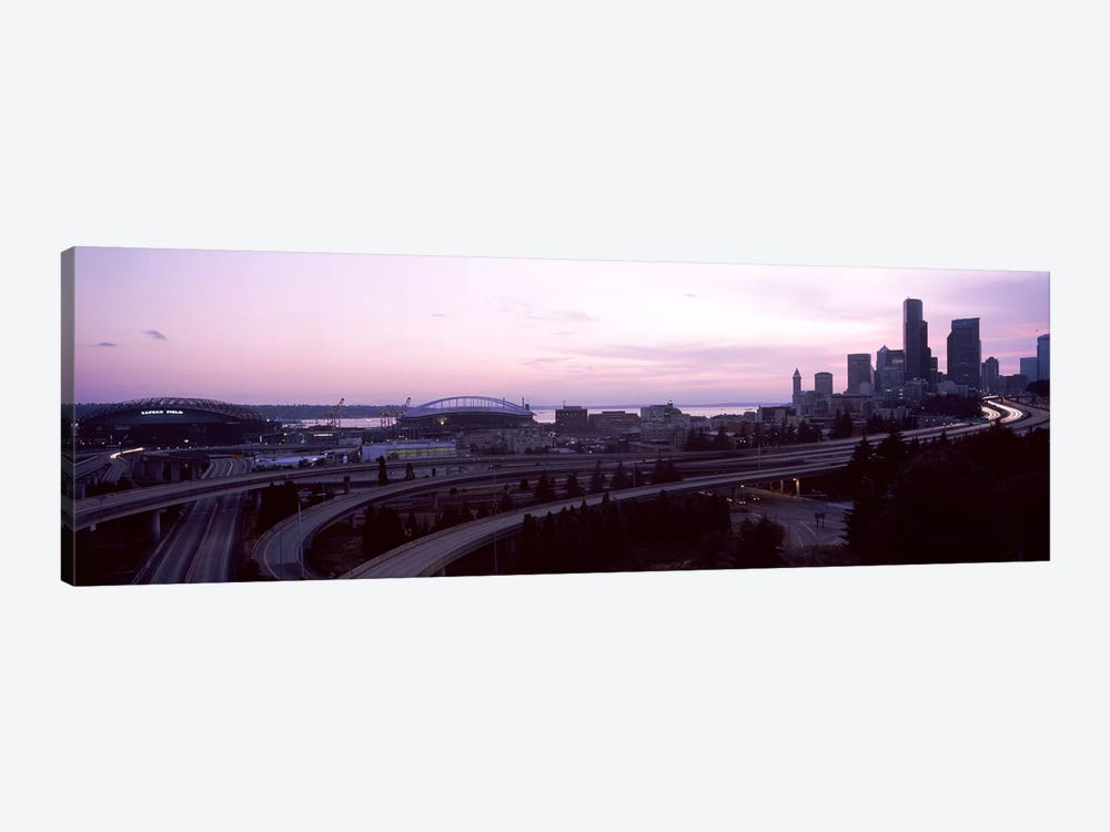 City at sunset, Seattle, King County, Washington State, USA by Panoramic Images 1-piece Canvas Art Print