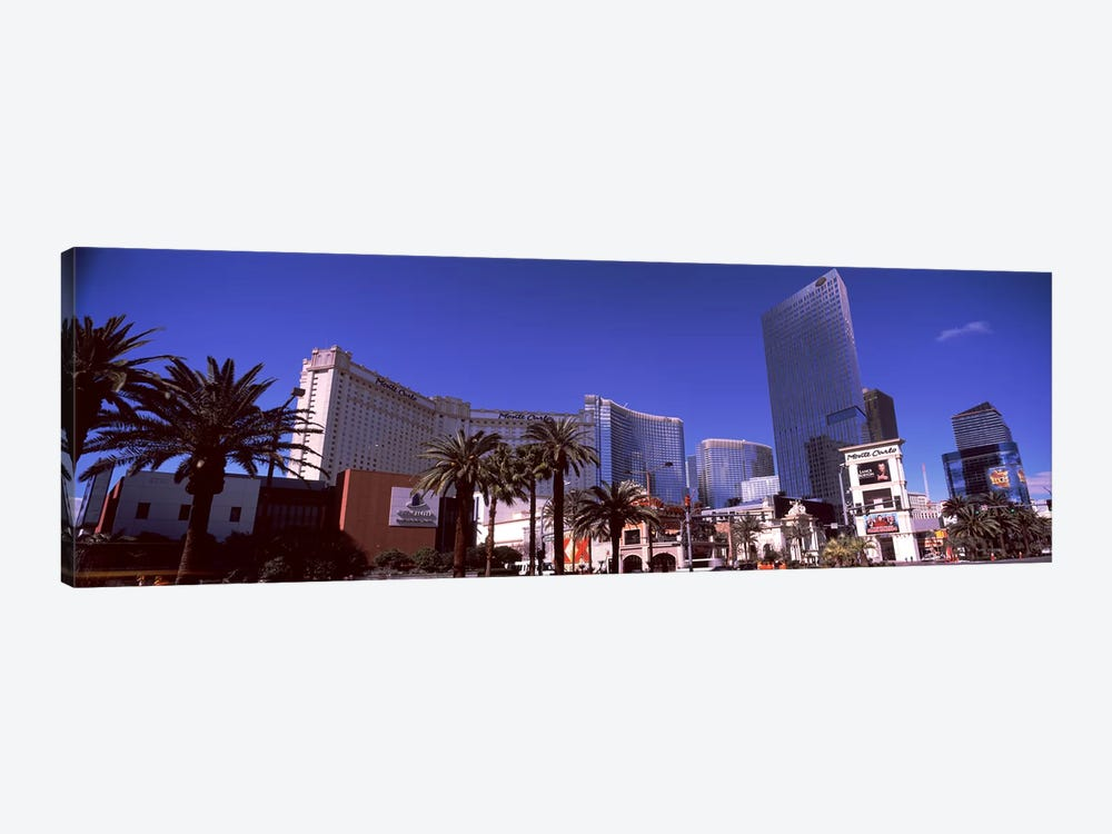 Low angle view of skyscrapers in a city, Citycenter, The Strip, Las Vegas, Nevada, USA 1-piece Art Print