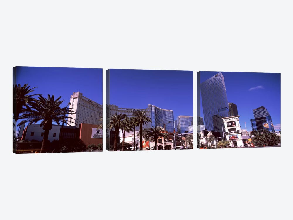 Low angle view of skyscrapers in a city, Citycenter, The Strip, Las Vegas, Nevada, USA by Panoramic Images 3-piece Canvas Print