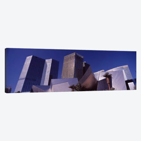 Low angle view of skyscrapers in a city, Citycenter, The Strip, Las Vegas, Nevada, USA 2010 Canvas Print #PIM8538} by Panoramic Images Canvas Print