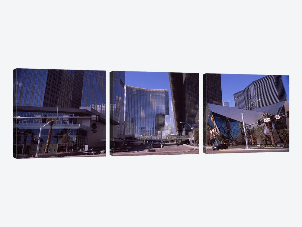 Skyscrapers in a city, Citycenter, The Strip, Las Vegas, Nevada, USA 2010 by Panoramic Images 3-piece Canvas Print