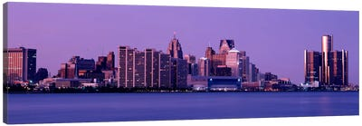 USA, Michigan, Detroit, twilight Canvas Print #PIM853