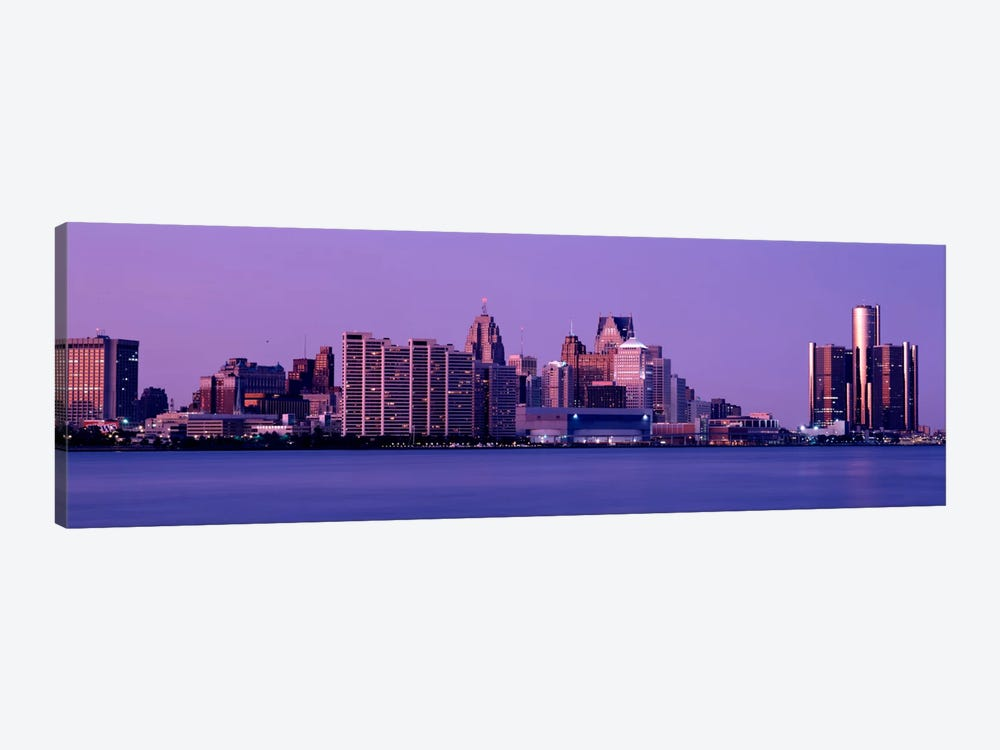 USA, Michigan, Detroit, twilight by Panoramic Images 1-piece Canvas Print