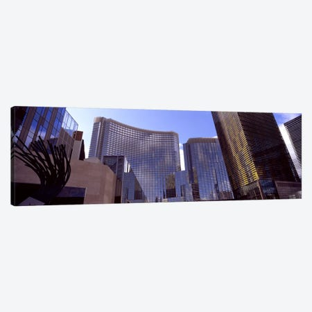 Low angle view of skyscrapers in a city, Citycenter, The Strip, Las Vegas, Nevada, USA #2 Canvas Print #PIM8540} by Panoramic Images Canvas Art
