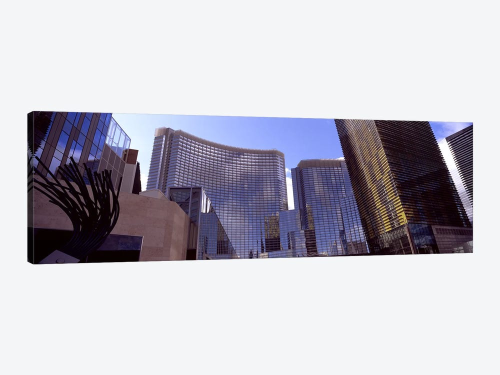 Low angle view of skyscrapers in a city, Citycenter, The Strip, Las Vegas, Nevada, USA #2 by Panoramic Images 1-piece Art Print