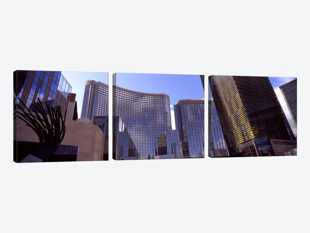 Low angle view of skyscrapers in a city, Citycenter, The Strip, Las Vegas, Nevada, USA #2 by Panoramic Images 3-piece Art Print