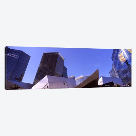 Low angle view of skyscrapers in a city, Citycenter, The Strip, Las Vegas, Nevada, USA #3 Canvas Print #PIM8541} by Panoramic Images Canvas Wall Art
