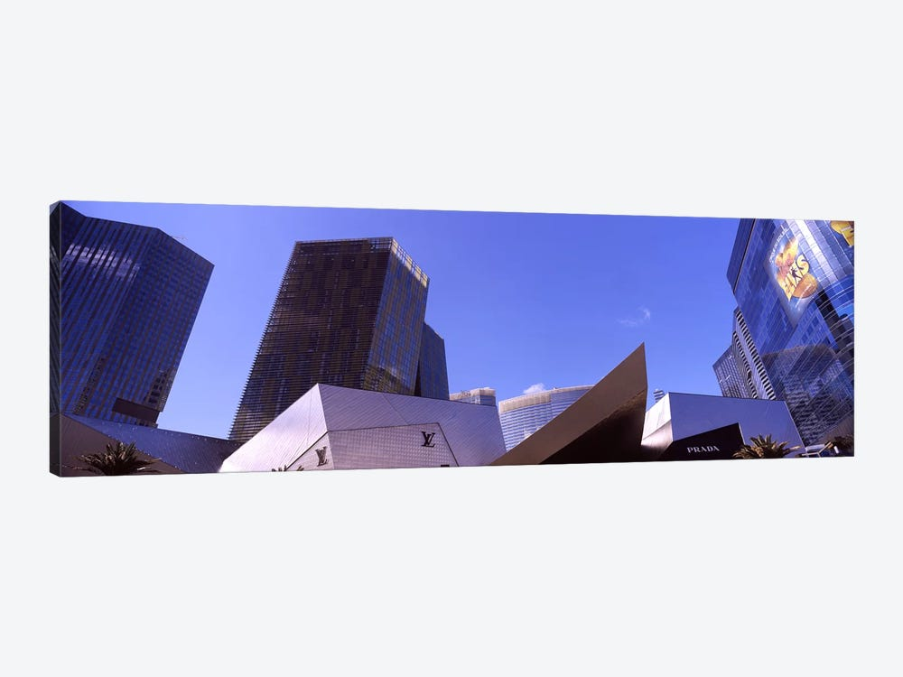 Low angle view of skyscrapers in a city, Citycenter, The Strip, Las Vegas, Nevada, USA #3 by Panoramic Images 1-piece Canvas Wall Art