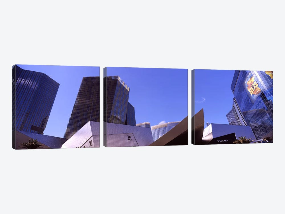 Low angle view of skyscrapers in a city, Citycenter, The Strip, Las Vegas, Nevada, USA #3 by Panoramic Images 3-piece Canvas Artwork