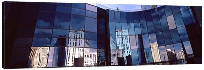 Reflection of skyscrapers in the glasses of a building, Citycenter, The Strip, Las Vegas, Nevada, USA Canvas Print #PIM8542
