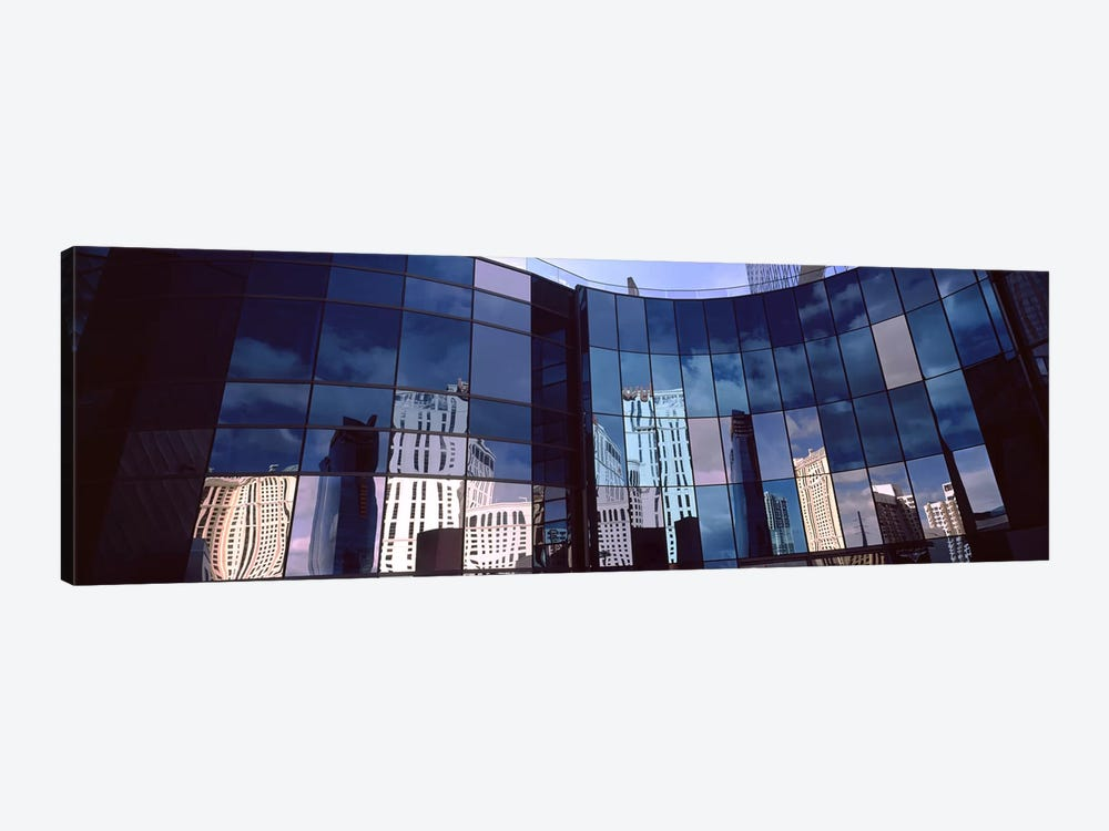 Reflection of skyscrapers in the glasses of a building, Citycenter, The Strip, Las Vegas, Nevada, USA by Panoramic Images 1-piece Canvas Print