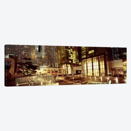City lit up at night, Citycenter, The Strip, Las Vegas, Nevada, USA Canvas Print #PIM8543} by Panoramic Images Canvas Artwork