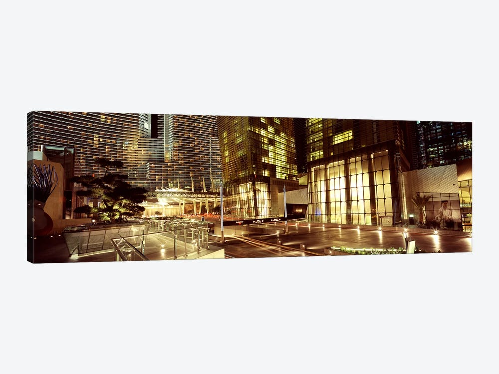 City lit up at night, Citycenter, The Strip, Las Vegas, Nevada, USA by Panoramic Images 1-piece Canvas Artwork
