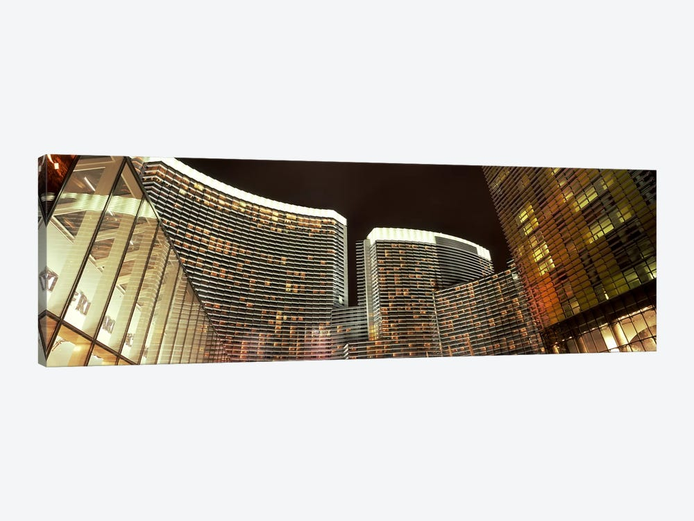 Skyscrapers lit up at night, Citycenter, The Strip, Las Vegas, Nevada, USA by Panoramic Images 1-piece Canvas Print
