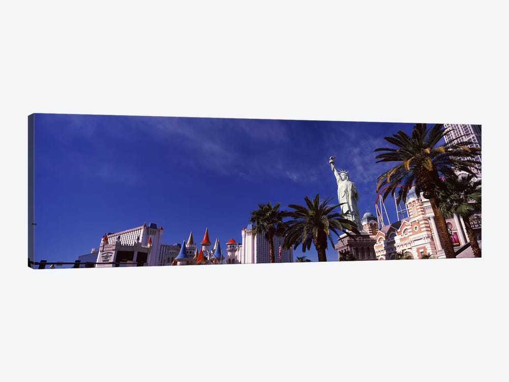 Low angle view of skyscrapers in a city, The Strip, Las Vegas, Nevada, USA by Panoramic Images 1-piece Canvas Art Print