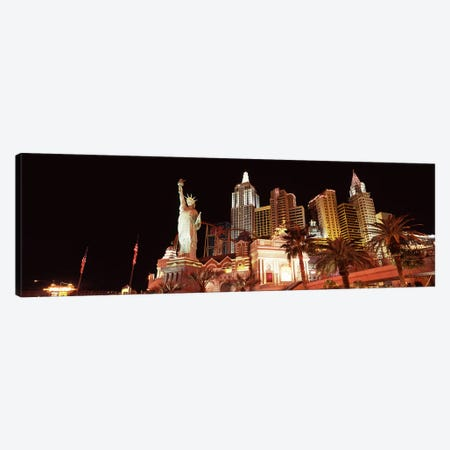 Low angle view of a hotel, New York New York Hotel, The Strip, Las Vegas, Nevada, USA Canvas Print #PIM8547} by Panoramic Images Canvas Art Print