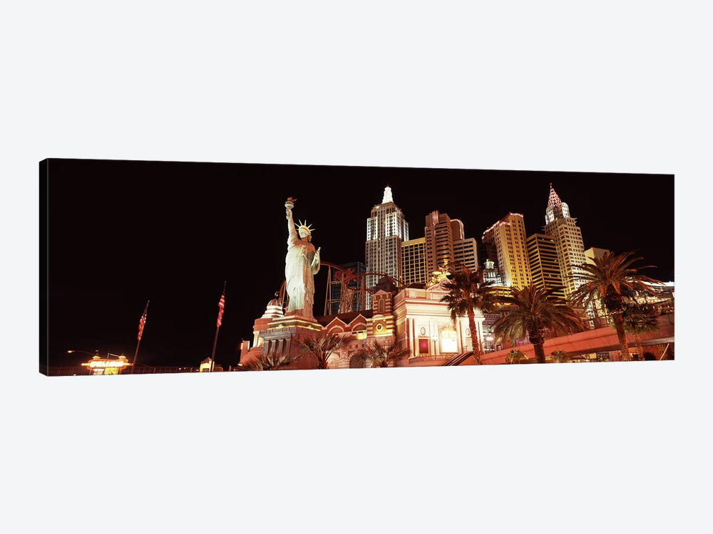 Low angle view of a hotel, New York New York Hotel, The Strip, Las Vegas, Nevada, USA 1-piece Canvas Wall Art