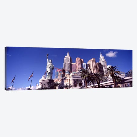 Low angle view of a hotel, New York New York Hotel, The Strip, Las Vegas, Nevada, USA #2 Canvas Print #PIM8548} by Panoramic Images Canvas Artwork