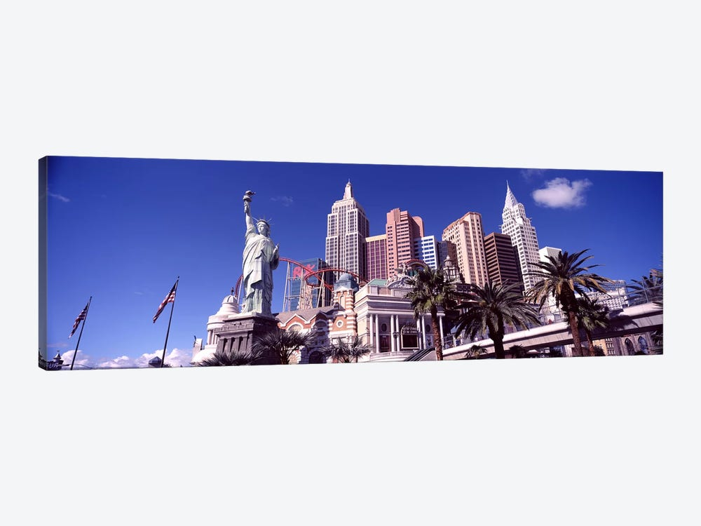 Low angle view of a hotel, New York New York Hotel, The Strip, Las Vegas, Nevada, USA #2 by Panoramic Images 1-piece Canvas Print