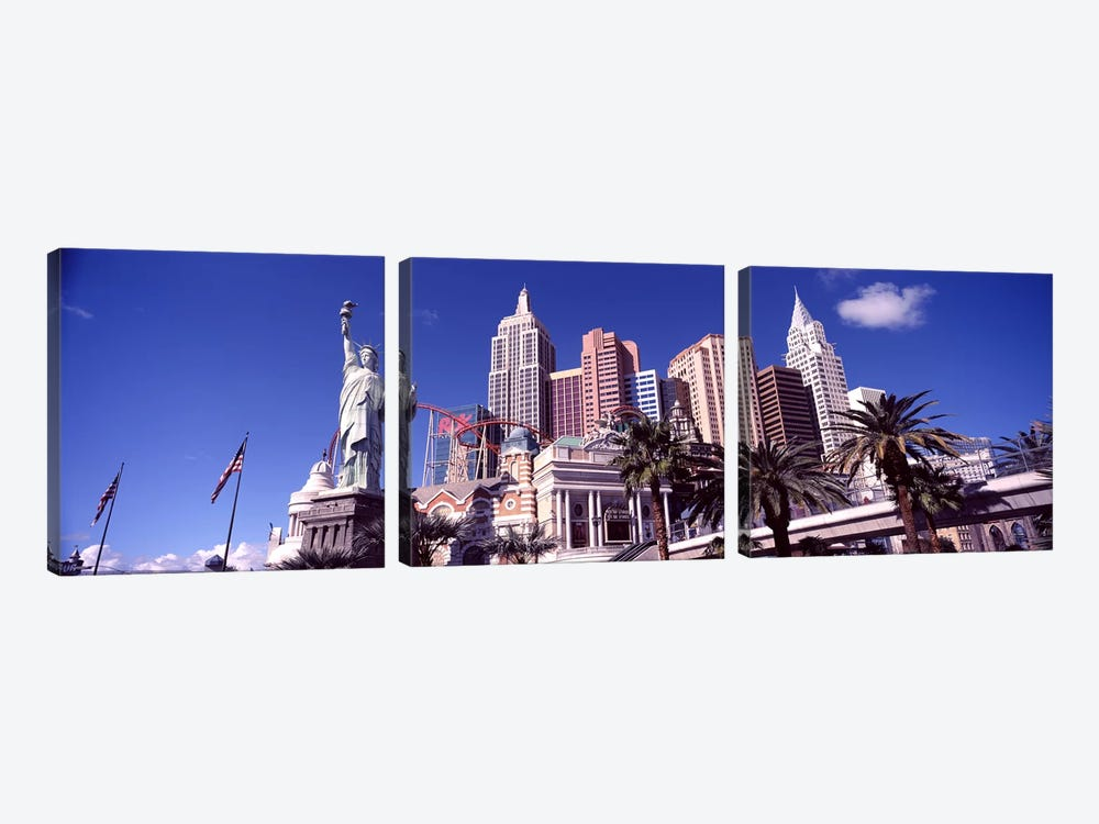 Low angle view of a hotel, New York New York Hotel, The Strip, Las Vegas, Nevada, USA #2 by Panoramic Images 3-piece Canvas Print
