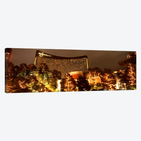 Hotel lit up at night, Wynn Las Vegas, The Strip, Las Vegas, Nevada, USA Canvas Print #PIM8549} by Panoramic Images Canvas Artwork