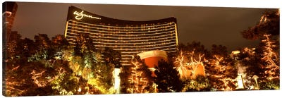 Hotel lit up at night, Wynn Las Vegas, The Strip, Las Vegas, Nevada, USA Canvas Art Print