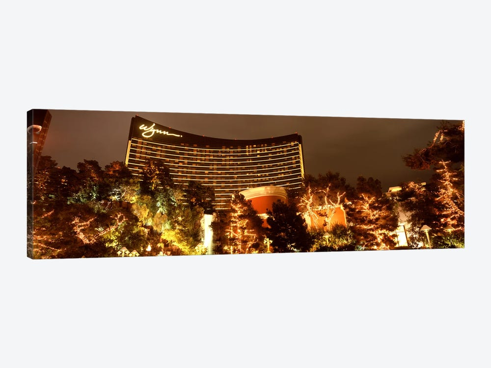 Hotel lit up at night, Wynn Las Vegas, The Strip, Las Vegas, Nevada, USA by Panoramic Images 1-piece Canvas Artwork
