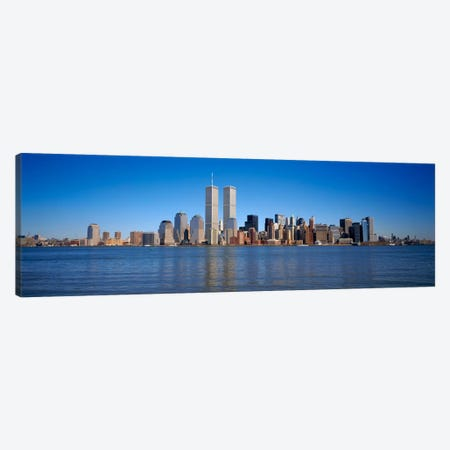 Skyscrapers at the waterfront, World Trade Center, Lower Manhattan, Manhattan, New York City, New York State, USA Canvas Print #PIM854} by Panoramic Images Canvas Wall Art