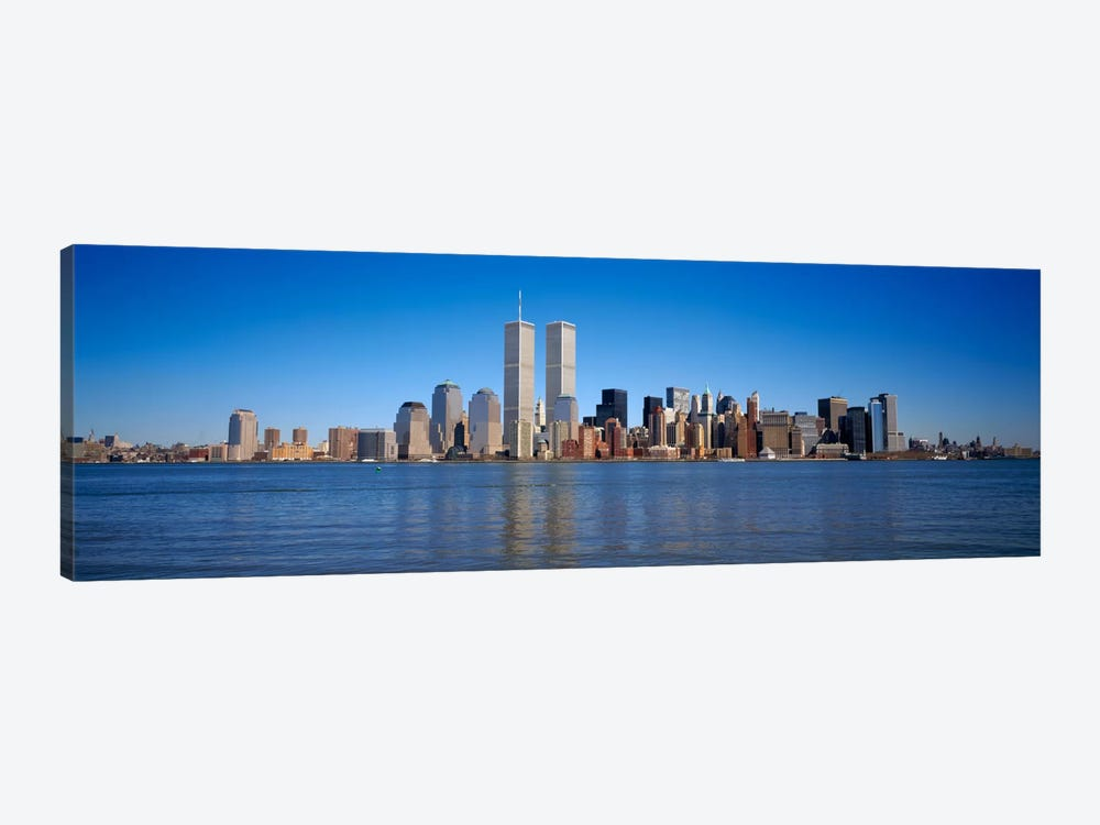 Skyscrapers at the waterfront, World Trade Center, Lower Manhattan, Manhattan, New York City, New York State, USA by Panoramic Images 1-piece Canvas Wall Art