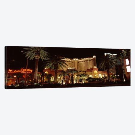 Hotel lit up at night, Monte Carlo Resort And Casino, The Strip, Las Vegas, Nevada, USA Canvas Print #PIM8550} by Panoramic Images Art Print