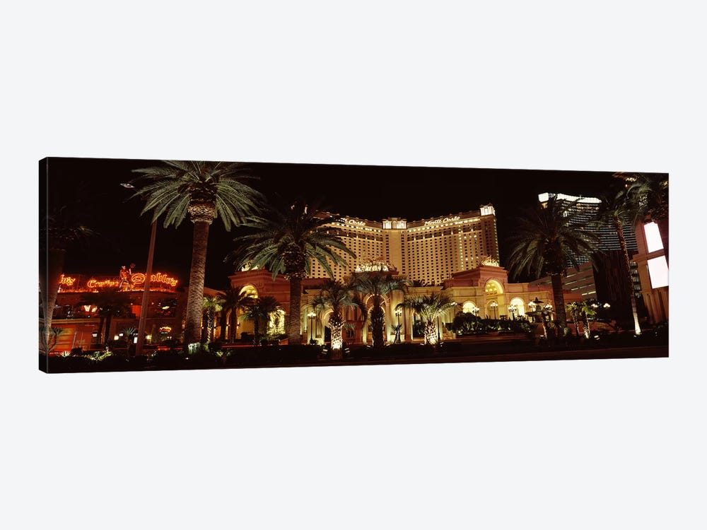Hotel lit up at night, Monte Carlo Resort And Casino, The Strip, Las Vegas, Nevada, USA by Panoramic Images 1-piece Canvas Art