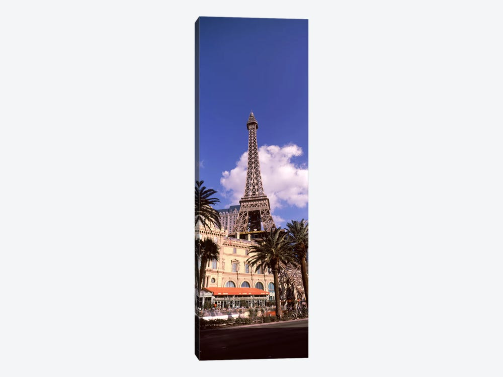 Low angle view of a hotel, Replica Eiffel Tower, Paris Las Vegas, The Strip, Las Vegas, Nevada, USA by Panoramic Images 1-piece Canvas Art
