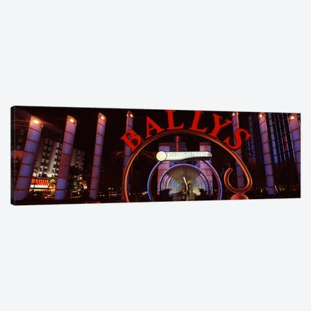 Neon sign of a hotel, Bally's Las Vegas, Monorail Station, The Strip, Las Vegas, Nevada, USA Canvas Print #PIM8554} by Panoramic Images Canvas Art