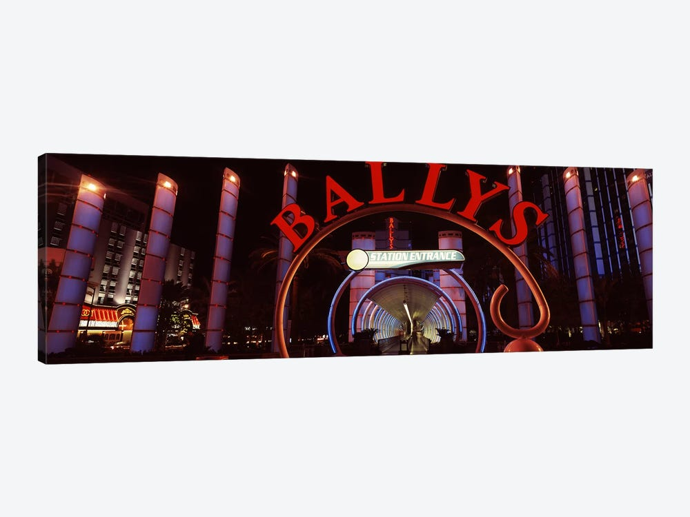 Neon sign of a hotel, Bally's Las Vegas, Monorail Station, The Strip, Las Vegas, Nevada, USA by Panoramic Images 1-piece Canvas Art
