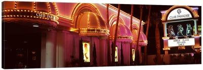 Strip club lit up at night, Las Vegas, Nevada, USA Canvas Print #PIM8555