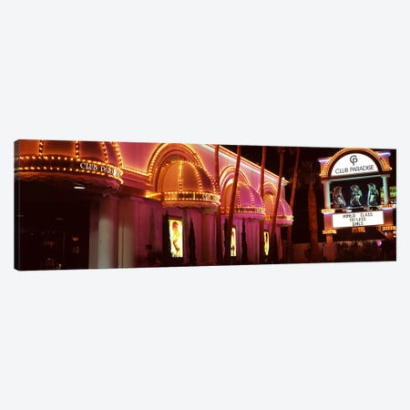 Strip club lit up at night, Las Vegas, Nevada, USA Canvas Print #PIM8555} by Panoramic Images Canvas Art