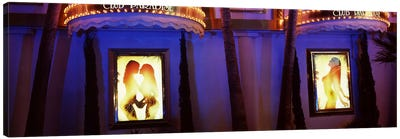 Strip club lit up at night, Las Vegas, Nevada, USA #2 Canvas Print #PIM8556