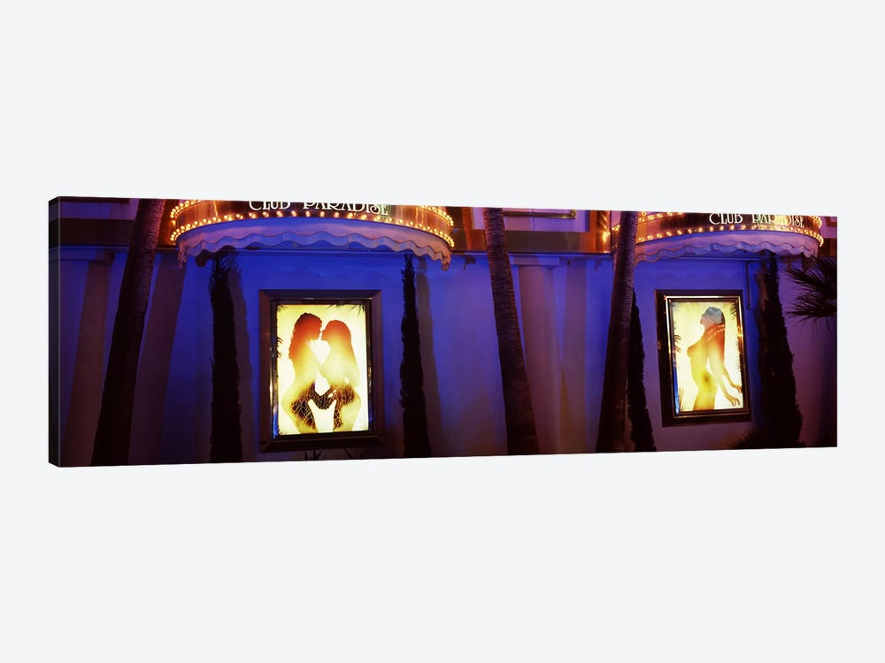Strip club lit up at night, Las Vegas, Nevada, USA #2 by Panoramic Images 1-piece Canvas Wall Art