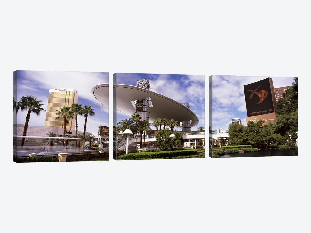 Hotels in a city, Trump Hotel Las Vegas, Wynn Las Vegas, The Strip, Las Vegas, Nevada, USA by Panoramic Images 3-piece Canvas Wall Art