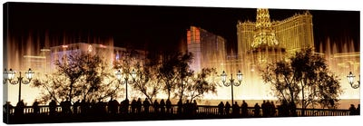 Hotels in a city lit up at night, The Strip, Las Vegas, Nevada, USA #2 Canvas Art Print