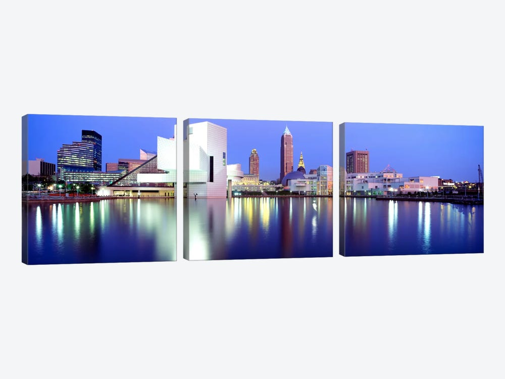 MuseumRock And Roll Hall of Fame, Cleveland, USA by Panoramic Images 3-piece Canvas Art Print