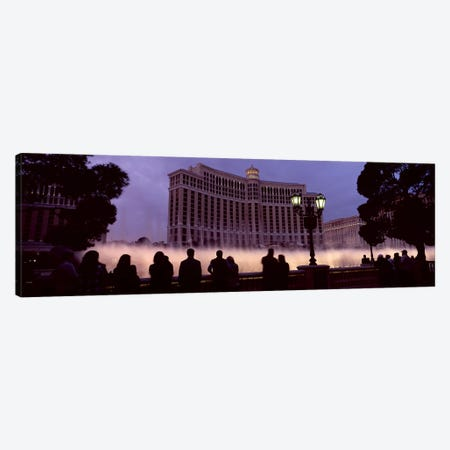 Low angle view of a hotel, Bellagio Resort And Casino, The Strip, Las Vegas, Nevada, USA Canvas Print #PIM8560} by Panoramic Images Canvas Wall Art
