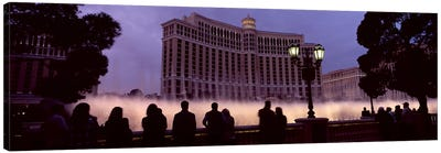 Low angle view of a hotel, Bellagio Resort And Casino, The Strip, Las Vegas, Nevada, USA Canvas Print #PIM8560