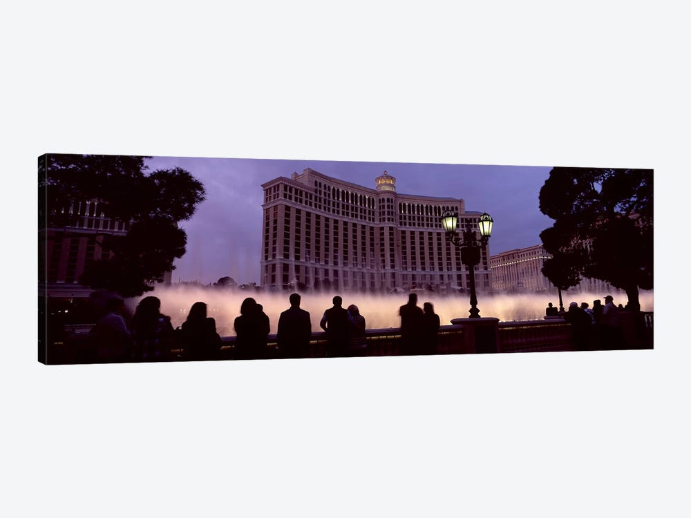 Low angle view of a hotel, Bellagio Resort And Casino, The Strip, Las Vegas, Nevada, USA 1-piece Art Print
