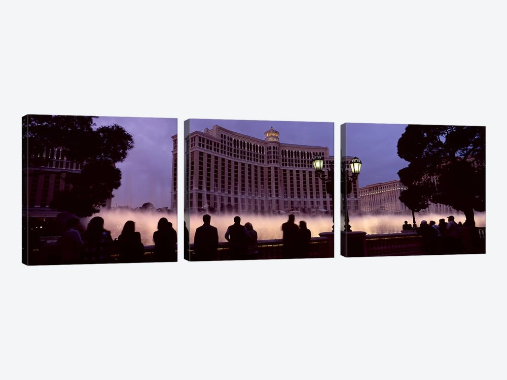 Low angle view of a hotel, Bellagio Resort And Casino, The Strip, Las Vegas, Nevada, USA 3-piece Canvas Art Print