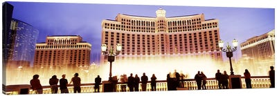 Hotel lit up at night, Bellagio Resort And Casino, The Strip, Las Vegas, Nevada, USA Canvas Art Print