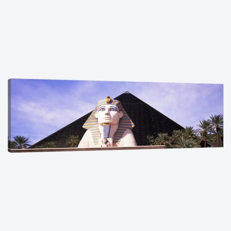 Statue in front of a hotel, Luxor Las Vegas, The Strip, Las Vegas, Nevada, USA Canvas Print #PIM8562} by Panoramic Images Canvas Art